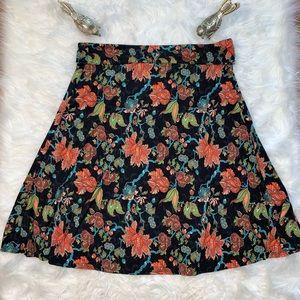 LulaRoe Floral Azure Simply Comfort Skirt Sz 2XL